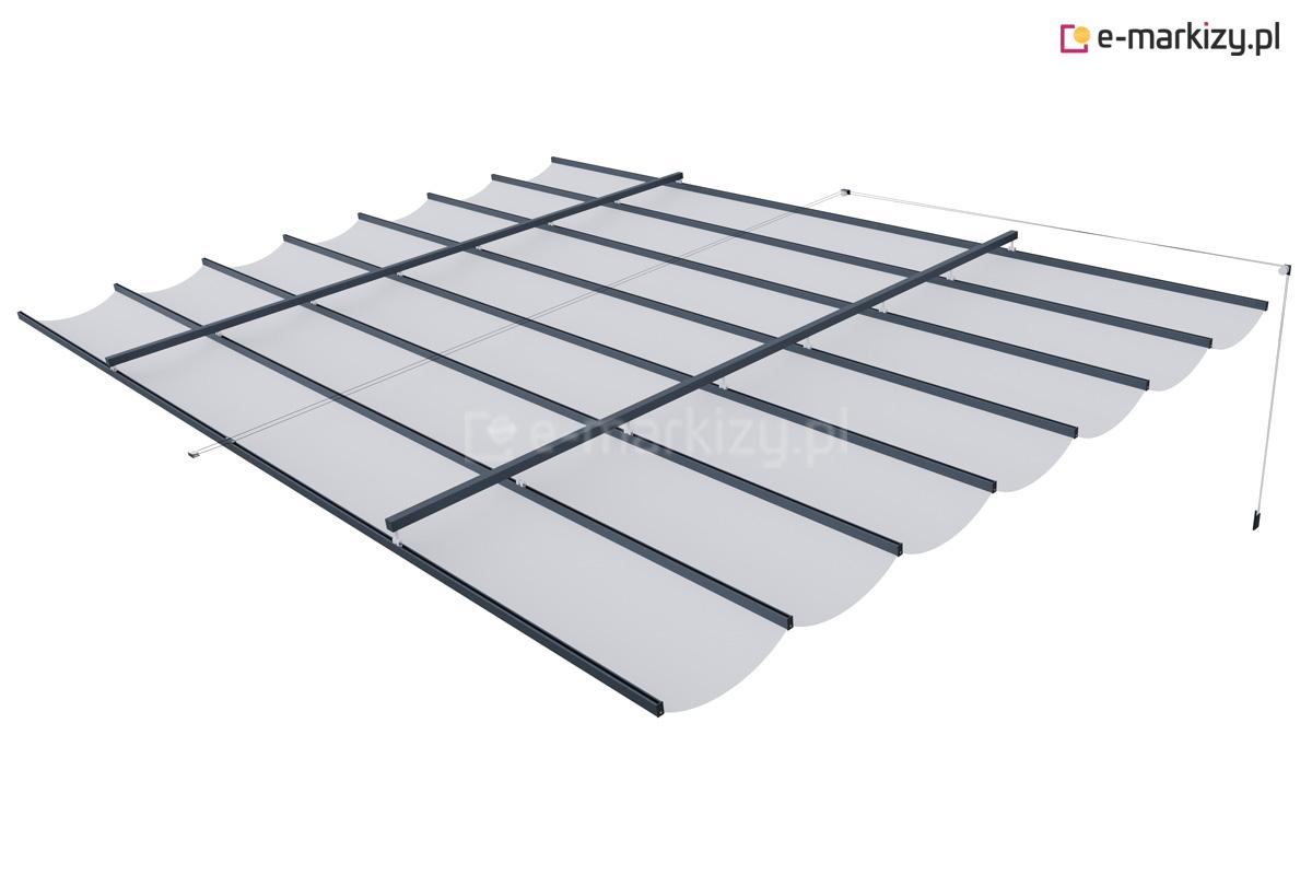 Zadaszenie pergolowe costa, dach tkaninowy na prowadnicach na wymiar