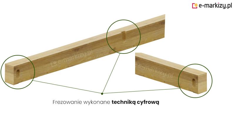 Pergola drewniana juko, frezowanie cyfrowe pergoli