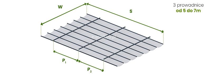 Dach Costa podwieszany, pomiar zadaszenia do konstrukcji własnej