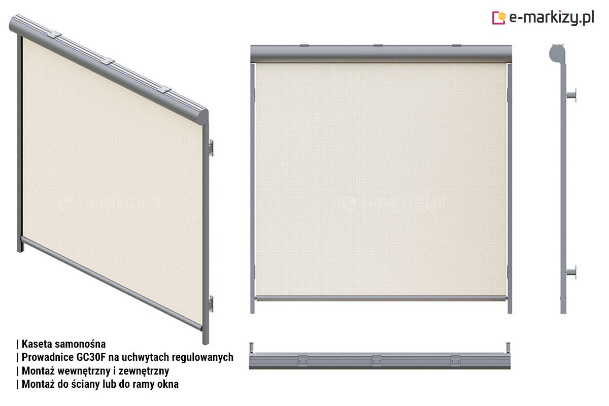 R103 prowadnice gc30f na uchwytach regulowanych, refleksol 103 uchwyt samonośny