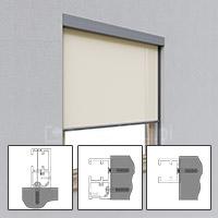 Montaż prowadnic bez uchwytów do ramy okna/ ściany/ do boku wnęki