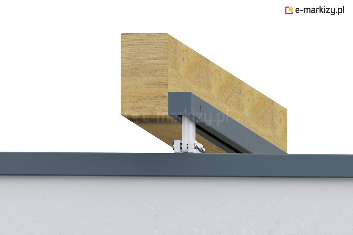 Zadaszenie tkaninowe montaż prowadnic boczny, dach pergola clasic