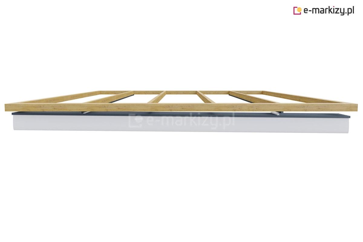 Zadaszenie tkaninowe odpływ wody, dach podwieszany clasic
