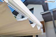 Prowadnica dachu tkaniny pergoli moza, elementy pergoli drewnianej